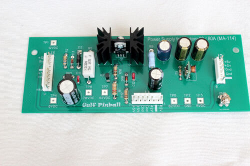 NEW Power Supply Board for Gottlieb System 80 / 80A ,  Part MA-114 (A2)
