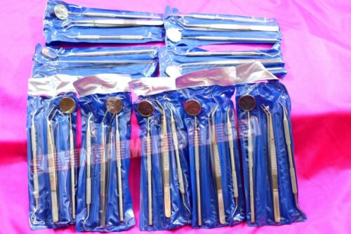 GERMAN 48 Instruments Basic Dental Set Mirror Explorer College plier-(16 OF EA)
