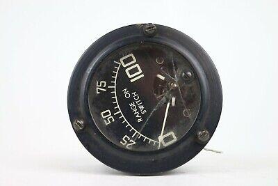 Vintage Rca Panel Meter Black Range On Switch 0-100 5ma Full Scale