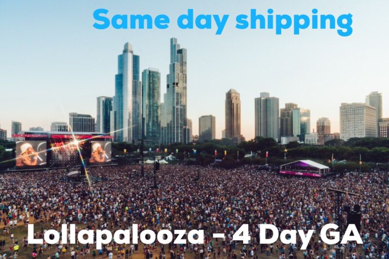 Lollapalooza 4 Day Ticket 2021. Lolla Chicago, IL (5 Available)