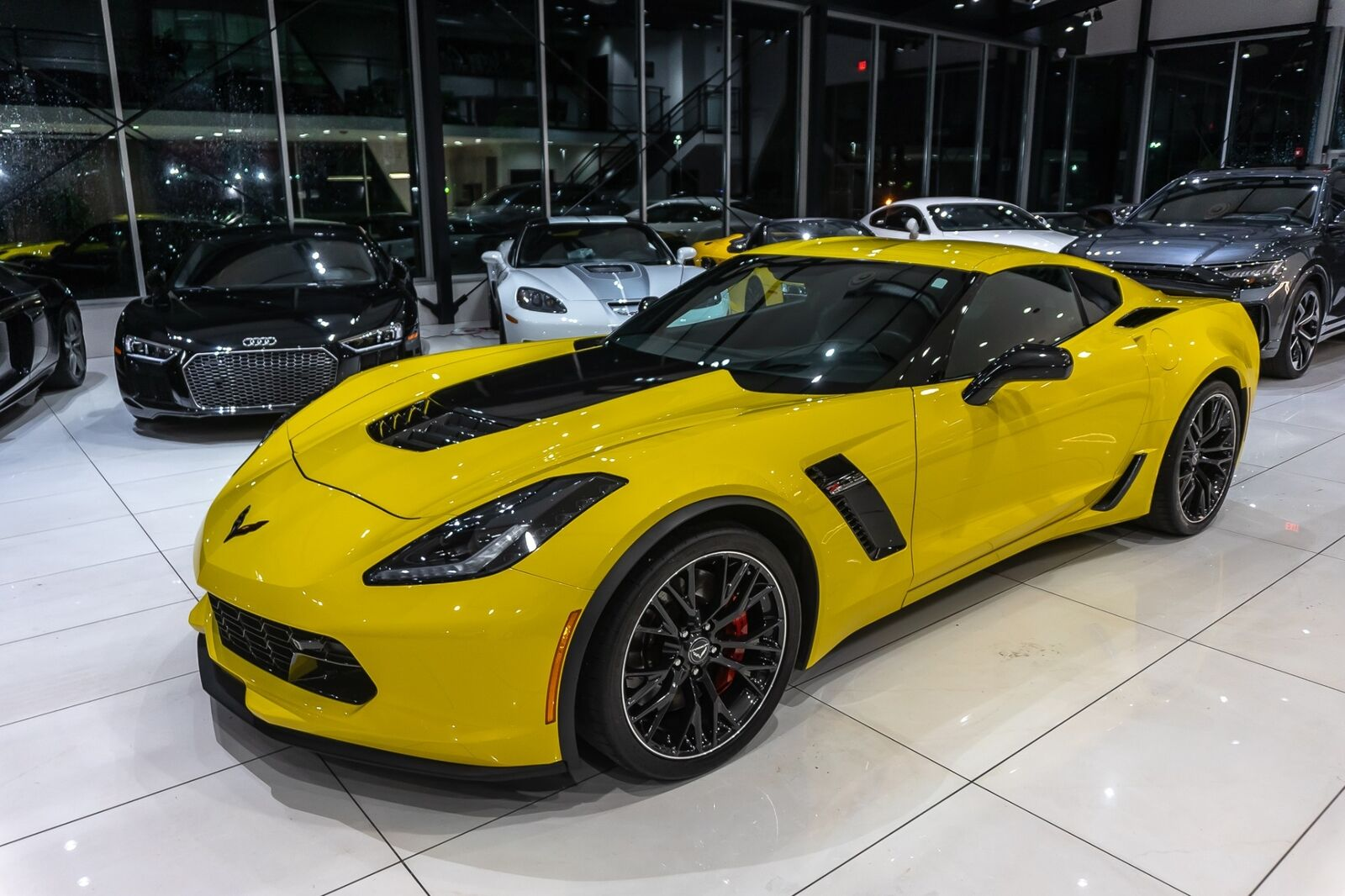 2016 Yellow Chevrolet Corvette Coupe 2LZ   C7 Corvette Photo 10