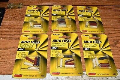 Victor German Car Fuse Assortment Gbc-5  8 16 25 Amp V566 Lot Of 30 Fuses