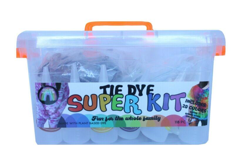 Tie Dye Kit-SUPER KIT-118 Piece Kit/20 Colors/Plant Based Dye