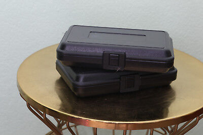 Hard Plastic Cases Lot Of 2 Photo Video Fragile Shipping Generic Unbranded Black