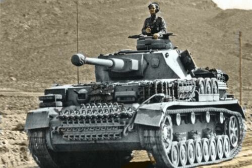 WW2 Picture Photo Panzer on the Move Rommel the great German tank commander 851