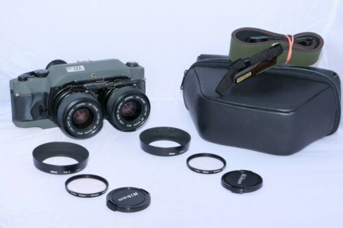 RBT Model X4 3D 35mm Stereo Camera with Twin 35-70mm zoom lenses & accessories.