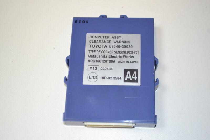 LEXUS GS 2007 RHD CLEARANCE WARNING CONTROL MODULE ECU UNIT 89340-30020