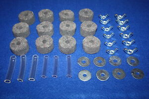 CYMBAL SAVERS + FELTS + WINGNUTS + WASHERS For Drum Kit Stands Pack of 38 Pieces