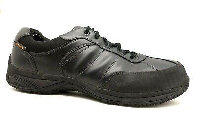 Dunham Black Leather Steel Toe Waterproof Slip Resistant Work Shoes Men's 16 D 16 Steel Toe Work Shoes