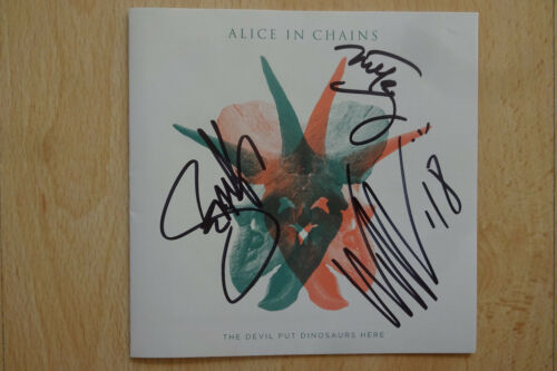 "Alice In Chains Autogramme signed CD Booklet ""The Devil Put Dinosaurs Here"""