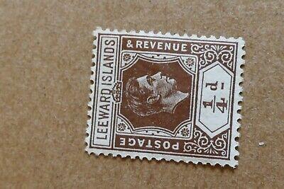 1 Leeward Islands postage stamp postal philately philatelic