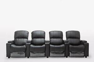 Sophie Leather 2/3/4 Seater Home Theatre Recliner Sofa Lounge