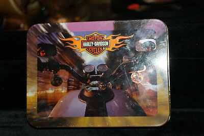 2002 Vintage Harley-Davidson Collector's Tin + 2 Decks of Playing Cards