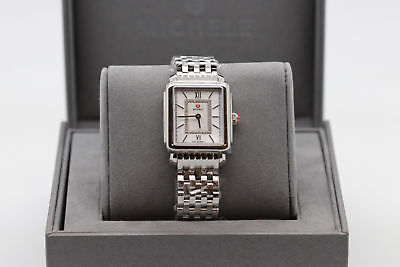 New Michele Deco Ii Mid Diamond Dial Stainless Steel Laides Watch Mww06i000026