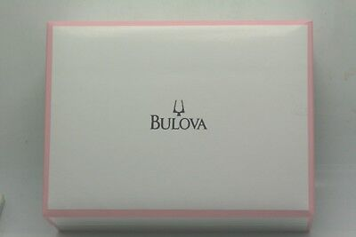 Brand New Authentic Bulova Watch Gift Box Special Edition Crystal Heart Necklace ()