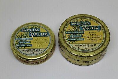 Antique 2 Boxes Of Tin Pads Valda , H.Canonne, Paris Pharmacy Vintage