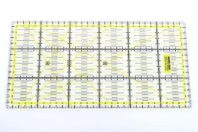 Gelbes Patchwork Lineal 30x15cm mit Zentimeterraster