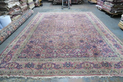 Antique  Vintage Turkish Oushak Sivas Rug Wool Hand Knotted 10