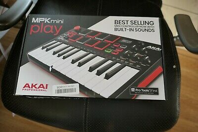 Akai MPK Mini Play USB MIDI Drum Pad Controller Keyboard with Built-in Speakers