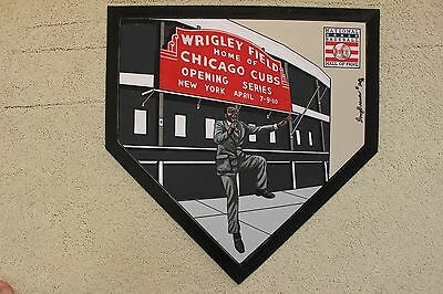 Ernie Banks Mr Cub Chicago Cubs HOF Hand Painted MLB Schutt Home Plate