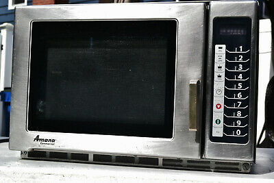 Amana Commercial Microwave 1800 Watts 100 Refurbishedrecondsanitized Rfs18ts
