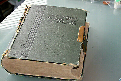 VINTAGE 1910's STANDARD ALBUM (3rd ED) VOL II FOREIGN WITH COLLECTION - M & U