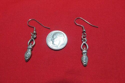 Pewter Fertility Goddess Earrings