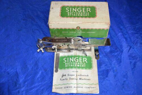 SINGER CHROME BUTTONHOLE ATTACHMENT SET15-90 15-90 66 99 101 201 PART 121795