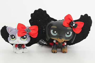 LPS ❤️ Accessories ❤️ Bad Angel Costume Wings Halloween For Littlest Pet Shop - Angel Costumes For Halloween For Kids