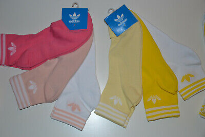 Womens Mens 3 Pack ADIDAS Originals TREFOIL Ankle Unisex Socks UK 5,5-8 / 8,5-11