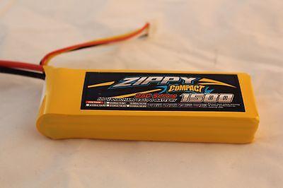 ZIPPY LIGHT WEIGHT 1500Mah 11.1V 3S 25C-35C  LiPo Battery w/