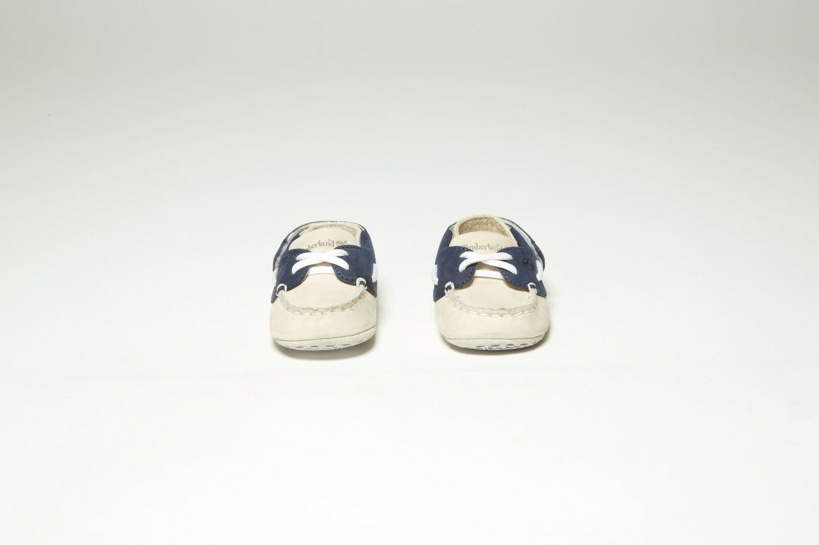 VINTAGE TIMBERLAND INFANT BOATIE 10410 BONE WHITE/NAVY 1