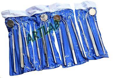 4 German Basic Dental Sets- Explorer Probedental Mirrorcollege Cotton Plier