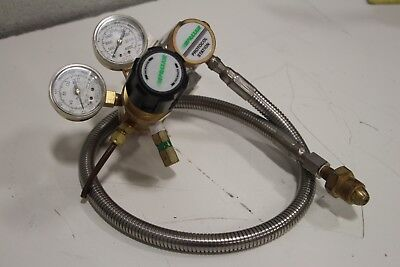Praxair Compressed Gas Regulator 30-200 0-4000 W Protocol Station Gas Line