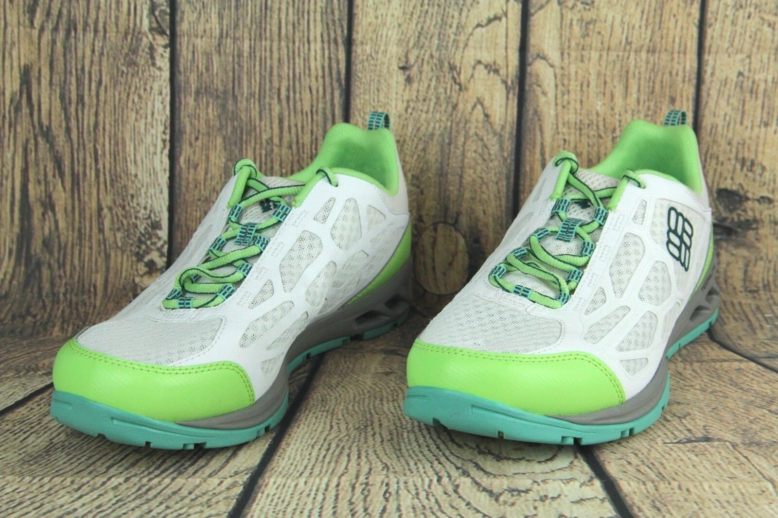 Columbia Megavent Fly Water Shoes White Green Volt BL2676-10