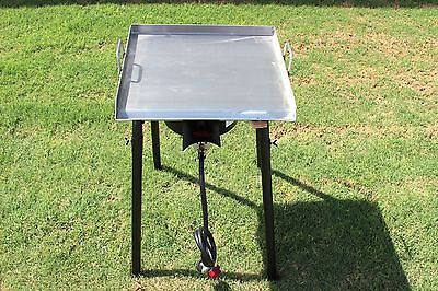 Concord 20 X 20 Stainless Steel Flat Top Griddle Grill W Single Burner Stove