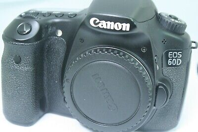 Canon EOS 60D 18.0MP Digital SLR Camera - Black  ONLY BADY