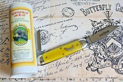 Great Eastern Cutlery Northfield USA 351217 Green Banana Bone Equal End Knife S