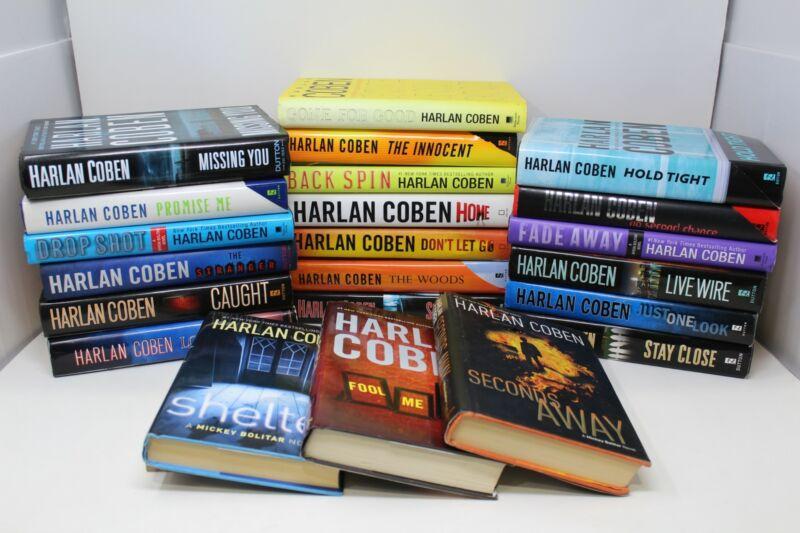 Lot of 5 Harlan Coben Thriller Hardcover Books MIX