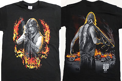 The Walking Dead Tv Show Daryl Dixon With Bazooka Front And Back Twd T Shirt