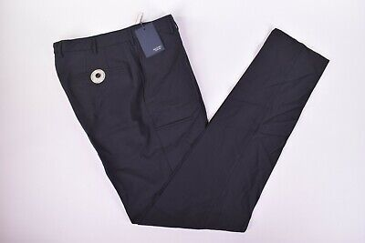 Incotex NWT Technowool Flat Front Casual / Dress Pants Size 34 in Black $425
