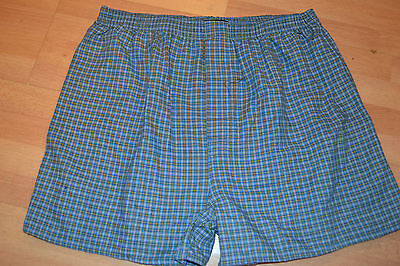 NEW Mens  Boxers INTIMO Light Blue Plaid COTTON/POLYESTER  Large b3