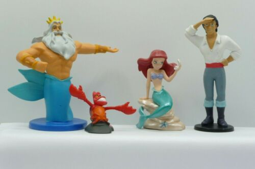 DISNEY PRINCESS ARIEL LITTLE MERMAID  CAKE TOPPERS / TOY FIGURES LOT OF 4