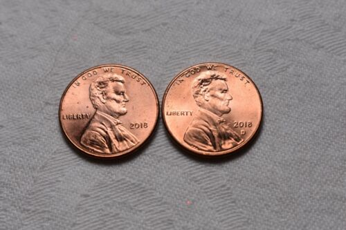 2018  P & D Lincoln Shield Cent / Penny Set (2 Coins) **FREE SHIPPING**