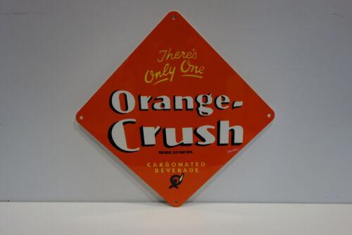 """ORANGE CRUSH BEVERAGE DISPLAY SIGN 12"""" High 12"""" Wide! VERY NICE!"""