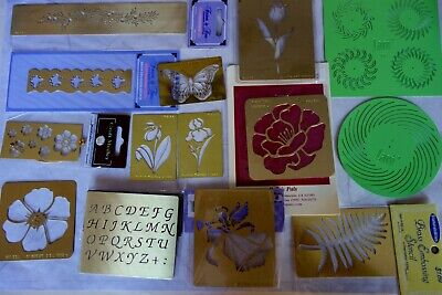 Brass/SS Stencils Lge Sel to Choose From Xmas,Angel,Floral,Butterfly,ABC's,ROSE ()