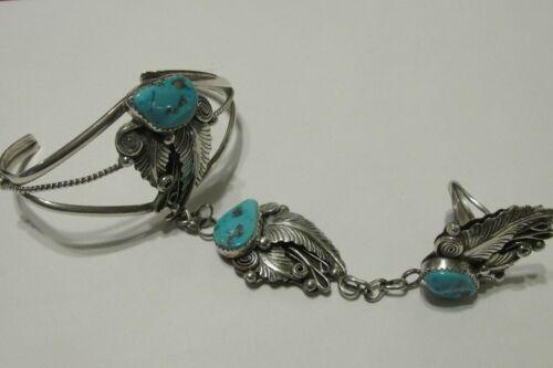 Sterling Silver Native American Slave Bracelet Signed