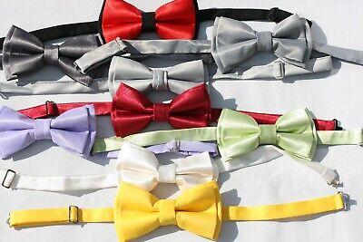 Fliege Bow Tie Flieder Grün Grau Gelb Blau Bordeaux ROT Frackhemd EU Qualität