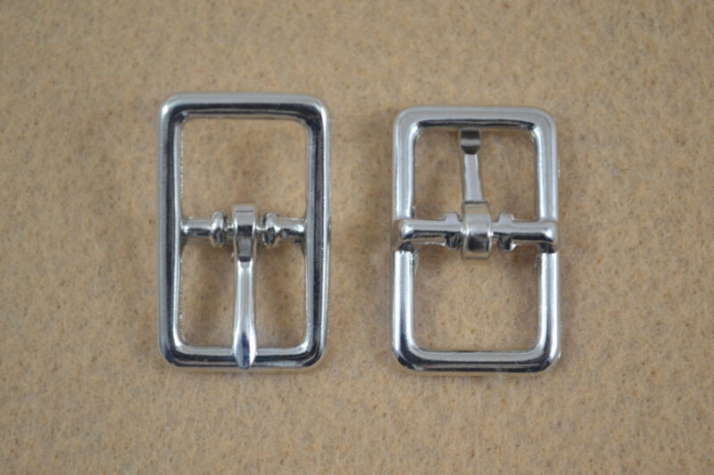 "Buckle, Bar - 1/2"" - Nickel Plated - Pack of 12 (F324)"