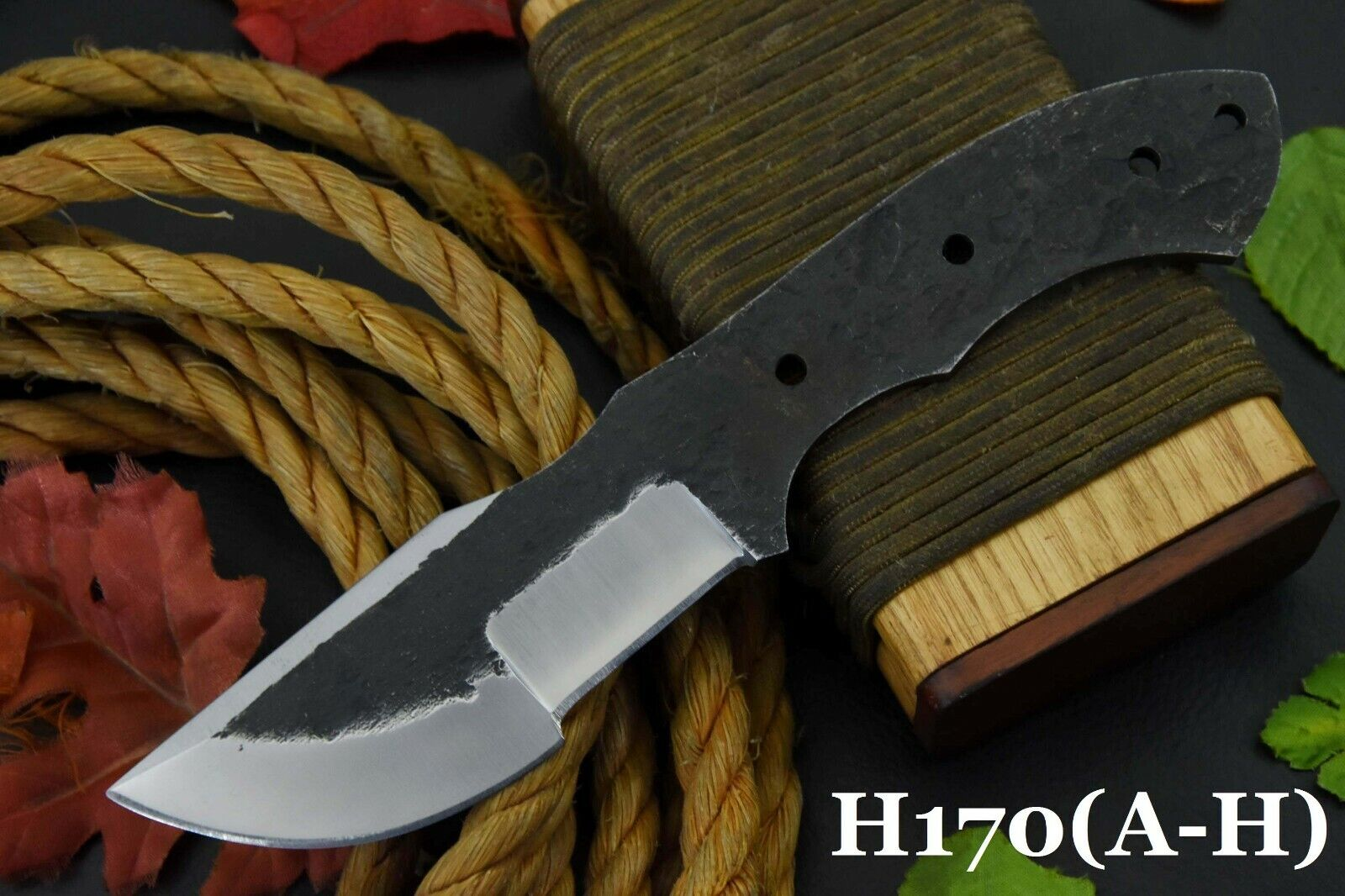 Custom 1095 High Carbon Steel Blank Blade Tracker Hunting Knife,No Damascus C  - $12.99